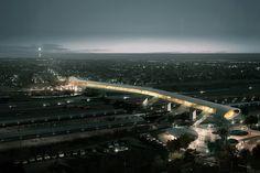 Pedestrian Bridge for Koge | COBE, DISSING + WEITLING, COWI [Future Architecture: http://futuristicnews.com/category/future-architecture/]
