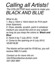 Call to artists.