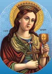 Saint Barbara was one of the most popular saints of the Middle Ages, Barbara was a beautiful young woman whose tyrannical father, Dioscorus, kept her imprisoned in a tower, protecting her from the world. She was martyred at his own hand because she refused to renounce her newly acquired Christian faith.