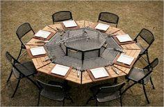 Der gedeckte Grill Tisch Jag