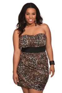 Leopard Strapless Dress | Dresses  Just super cute!! I have just the right curves for this dress!! #MyTorridSummer