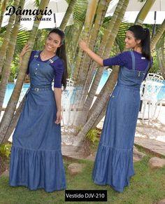 Modest Dresses, Modest Outfits, Stylish Dresses, Casual Dresses, Abaya Fashion, Denim Fashion, Modest Fashion, Fashion Dresses, Demin Dress