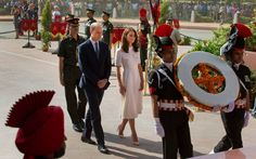 The duo flew to New Delhi where they laid a wreath at India Gate, a memorial to the 70,000 Indian soldiers who died while fighting for the British Army during World War I.