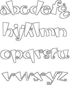 letras para usar en los periódicos murales
