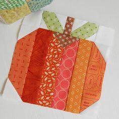 The Patchsmith: Patchsmith Sampler Block 20 - Orange Pumpkin Quilting Tutorials, Quilting Projects, Quilting Designs, Sewing Projects, Beginner Quilting, Applique Designs, Quilting Ideas, Quilt Block Patterns, Quilt Blocks