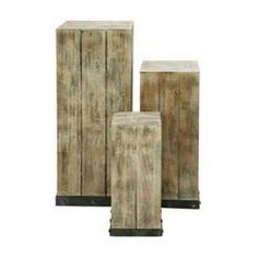 Reclaimed wood pedestals - build!