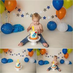 Space and Rockets cake smash photography - Shannon Lee Photography » Blog