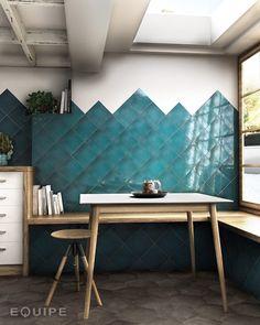 Our la gemme tile range welcomes the return of exotic interior design. Kitchen Backsplash Inspiration, Decor Interior Design, Interior Decorating, Greige, Bleu Pastel, Turquoise Kitchen, Tiles Texture, Kitchen Tile, Tiles Direct