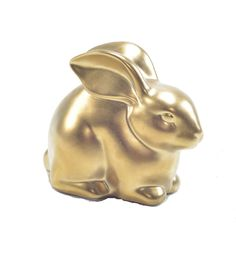 Ceramic Easter Bunny-Gold