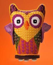 Harvest Owl -- Eye Candy design needlepoint canvas