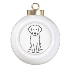 Golden Retriever Dog Cartoon Ornament