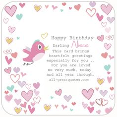 Happy Birthday Niece Free Cards For