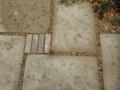 homemade concrete pavers