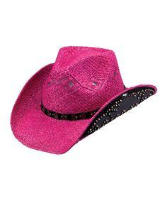 This Fuchsia & Black Adette Cowboy Hat is perfect! #zulilyfinds