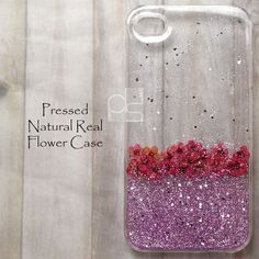 YGP Glitter Real Pressed Flower Bling Hard Skin Case Cover For Samsung iPhone in Cell Phones & Accessories | eBay