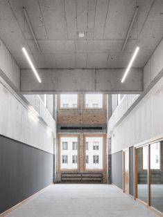 Ortner & Ortner Baukunst revamp Berlin building for Ernst Busch Academy. Residential Architecture, Contemporary Architecture, Interior Architecture, Interior Design, Building Art, Building Design, Inside Home, Hotel Interiors, Favim