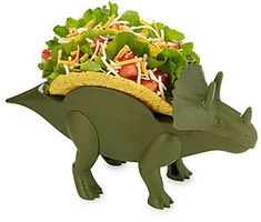 Tricerataco Holder - This durable dino holds two hard shell tacos until you make them extinct. #affiliate #kids #products