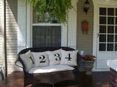 Numbered Pillows DIY