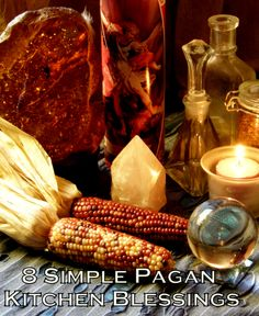 8 Simple Pagan Kitchen Blessings- The kitchen is one of the most sacred and shared places in the home. The following blessings are simple-  maybe you already use some of them in your ritual routine, maybe you haven't done them in awhile, or maybe you just want to do some extra blessings because Thanksgiving and the Yule season are just around the corner....read more