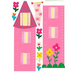 Track the inches of your little lady's growth with the fabulous Wallies Princess Growth Chart Peel & Stick Wall Decals. The self-adhesive vinyl sticker also comes with a variety of accents including flower, princess, and tree decals. Tree Decals, Vinyl Wall Decals, Wall Stickers, Baby Wall Decor, Baby Nursery Decor, Art Wall Kids, Adhesive Vinyl, Pink And Green, Cool Things To Buy