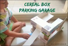 If your child loves cars, you have to make this parking garage made from cereal boxes! Inspired by @sarahmomof4boys #upcycledcrafts #toddleractivities