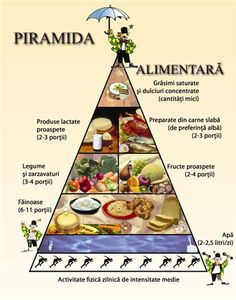 The Romanian food guide. Reproduced with permission. Healthy Weight, Healthy Life, Menu Dieta, Food Pyramid, Romanian Food, High Cholesterol, Yoga, Eating Well, Keto