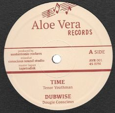 "Tenor Youthman - Time / Dubwise / Giulio Neri & The Officinalis - Sandosax Special (Aloe Vera) 12"""
