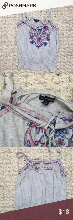 AE Tribal Crop Tank Top So cute for the summer! Looks brand new. American Eagle Outfitters Tops Tank Tops