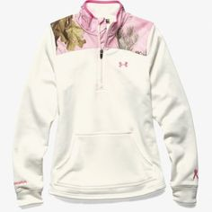This fitted pullover is part of UA's Power In Pink® Collection. The Armour® Fleece construction is lighter, softer, and more comfortable than ever. New Fall 2015 Product - Fight for a Cure! Hunting Clothes, Camo Clothes, 5 Logo, Country Attire, Realtree Camo, Camo Outfits, Cute Fashion, Fashion Ideas, Country Girls