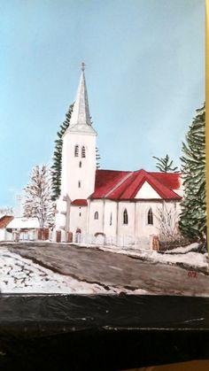 Nagylóci templom. 80 x 110 akril