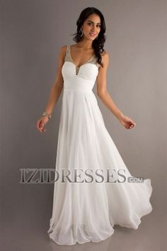 Sheath/Column Straps V-neck Chiffon Prom Dress - IZIDRESS.com