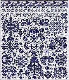 Cross stitch pattern from long dog