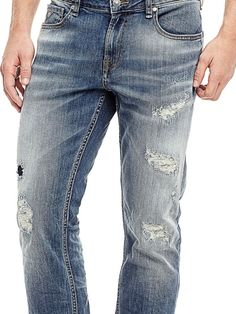 SKINNY JEANS WITH ABRASIONS | GUESS.eu