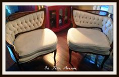 Fern Avenue: French Chairs makeover (painted fabric)