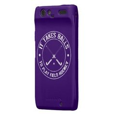 It takes balls to play field hockey! hahah love this phone case