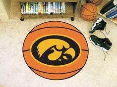 27in Round Iowa Hawkeyes Basketball Mat