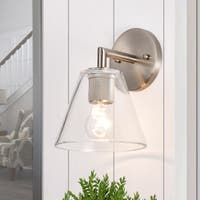 Sconces | Find Great Wall Lighting Deals Shopping at Overstock Wall Sconce Lighting, Wall Sconces, House Lighting, Ceiling Fan Price, Wall Lights, Ceiling Lights, Ceiling Fans, Satin, Light Bulb Types