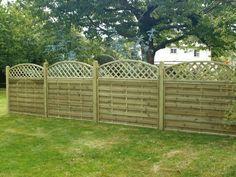 arch top fence panels fencing ideas pinterest. Black Bedroom Furniture Sets. Home Design Ideas