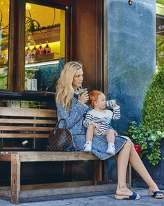 Caroline Trentini on Vogue.com. Waiting for the playdate in Louis Vuitton and Oeuf. It doesn't get chicer than this . . . #Vogue #OeufNYC