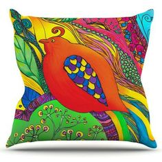 KESS InHouse Psycho-Delic Dan by Catherine Holcombe Throw Pillow