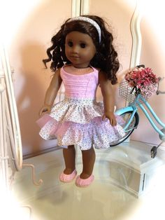 Summer dress and shoes made to fit 18 American Girl by menabella 53b6d34ae12
