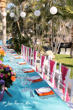 Bright and mexican wedding decor at Melia Cabo Real!