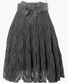 Красивая юбка крючком. Схема