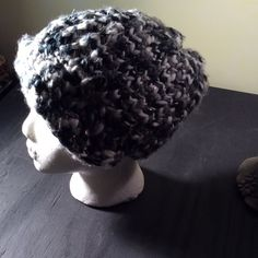 Woven winter hat Woven black grey silver winter hat. So cute. Accessories Hats