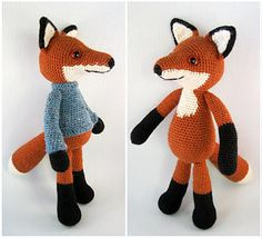 You can make two versions of this crafty and cuddly fox, either with or without a smart little sweater.