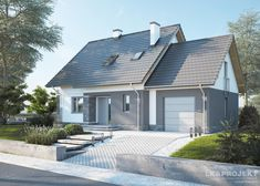 LK&1212 projekt domu parterowego z poddaszem użytkowym, o powierzchni użytkowej 95,27m2 spełniajacy warunki programu Mieszkanie dla Młodych