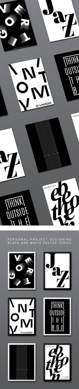Confira este projeto do @Behance: u201cB&W Poster Seriesu201d www.behance.net/...