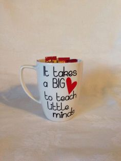 """Teacher gift. """"It takes a big heart to teach little minds"""" by TheLittleSparkleShop on Etsy https://www.etsy.com/listing/216401750/teacher-gift-it-takes-a-big-heart-to"""