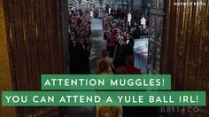 A Harry Potter-inspired Hogwarts Yule Ball? YES.