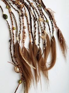 Bohemian Hairstyles, Feathered Hairstyles, Wig Hairstyles, Braids With Extensions, Hair Feathers Extensions, Feathers In Hair, Hair Extensions For Short Hair, Feather Hair, Viking Braids